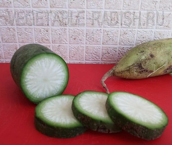 Зеленая редька калорийность