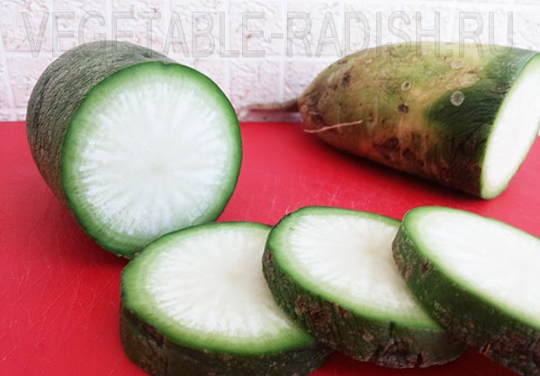 Вкусный салат из зеленой редьки